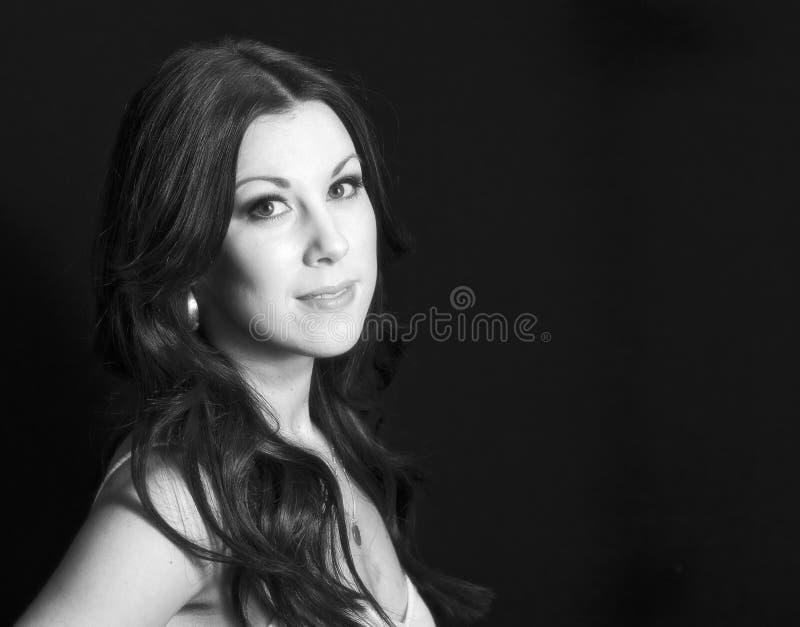 Woman with Professional Hair and Makeup Studio Shoot. Beautiful Woman with Professional Hair and Makeup Studio Shoot stock photos