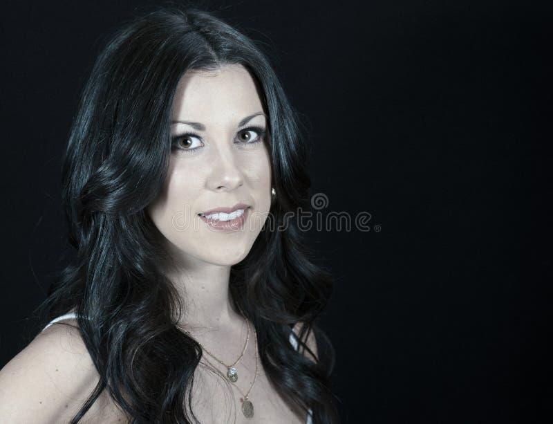 Woman with Professional Hair and Makeup Studio Shoot. Beautiful Woman with Professional Hair and Makeup Studio Shoot royalty free stock images