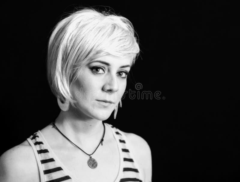 Woman with Professional Hair and Makeup Studio Shoot. Beautiful Woman with Professional Hair and Makeup Studio Shoot royalty free stock photos