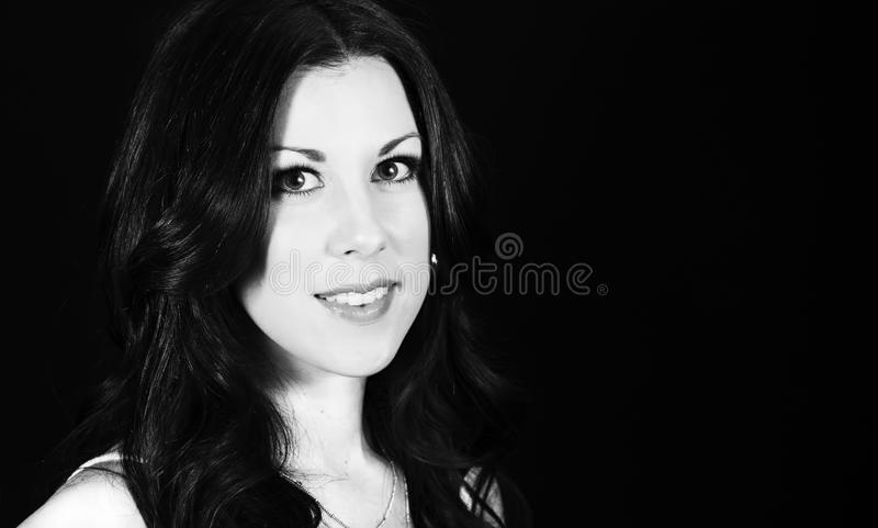 Woman with Professional Hair and Makeup Studio Shoot. Beautiful Woman with Professional Hair and Makeup Studio Shoot stock images