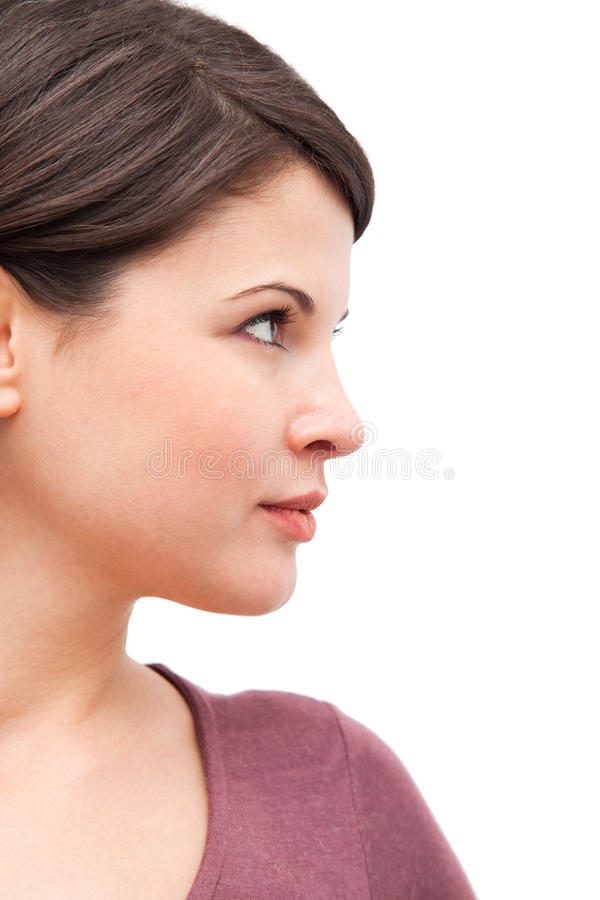 Download Woman profile stock image. Image of profile, positivity - 17505413