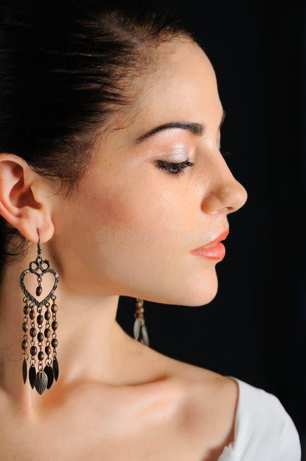 Woman profile royalty free stock image