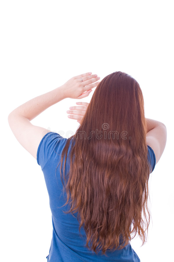 Download Woman Protecting Herself From Aggression Stock Photo - Image of protecting, brunette: 5761616