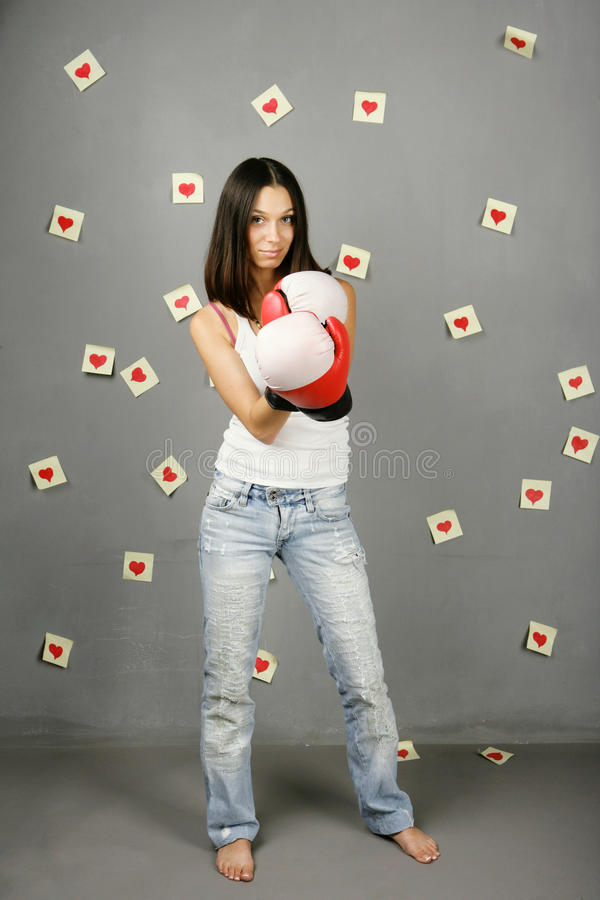 Download Woman protects love stock photo. Image of draws, causal - 11627100