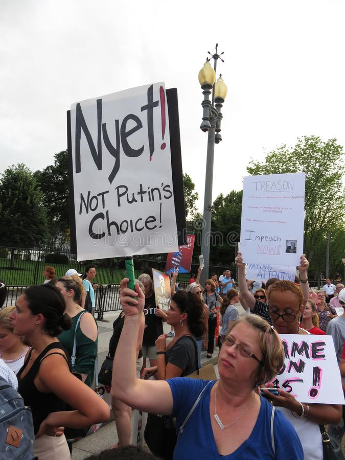 Woman Protester Against Vladimir Putin stock image