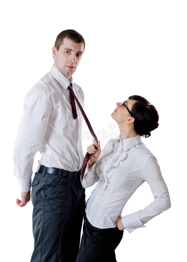 Download Woman Pull A Man By Necktie Stock Image - Image: 20796055