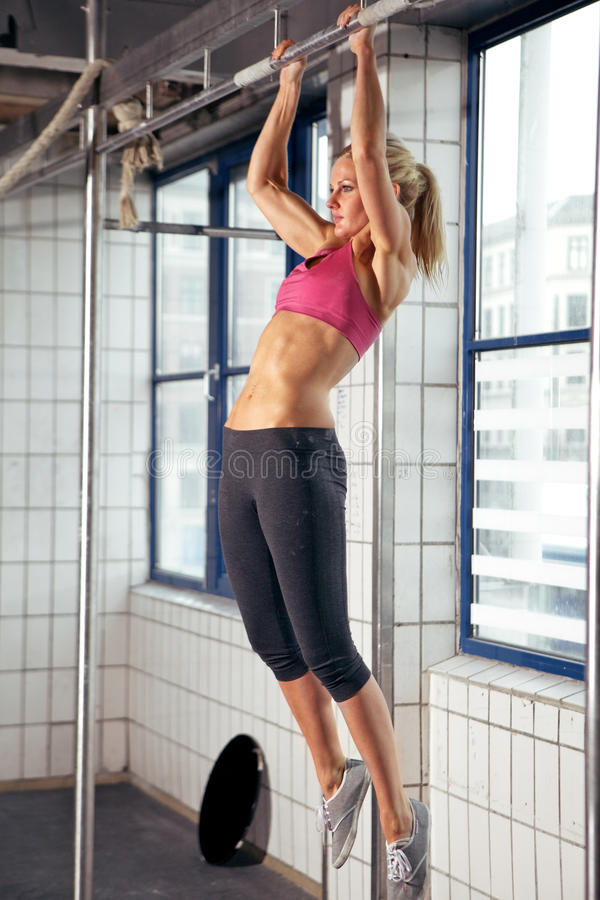 Woman Pull Ups Stock Image
