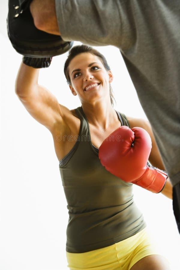 Free Woman Punching Stock Image - 4415581