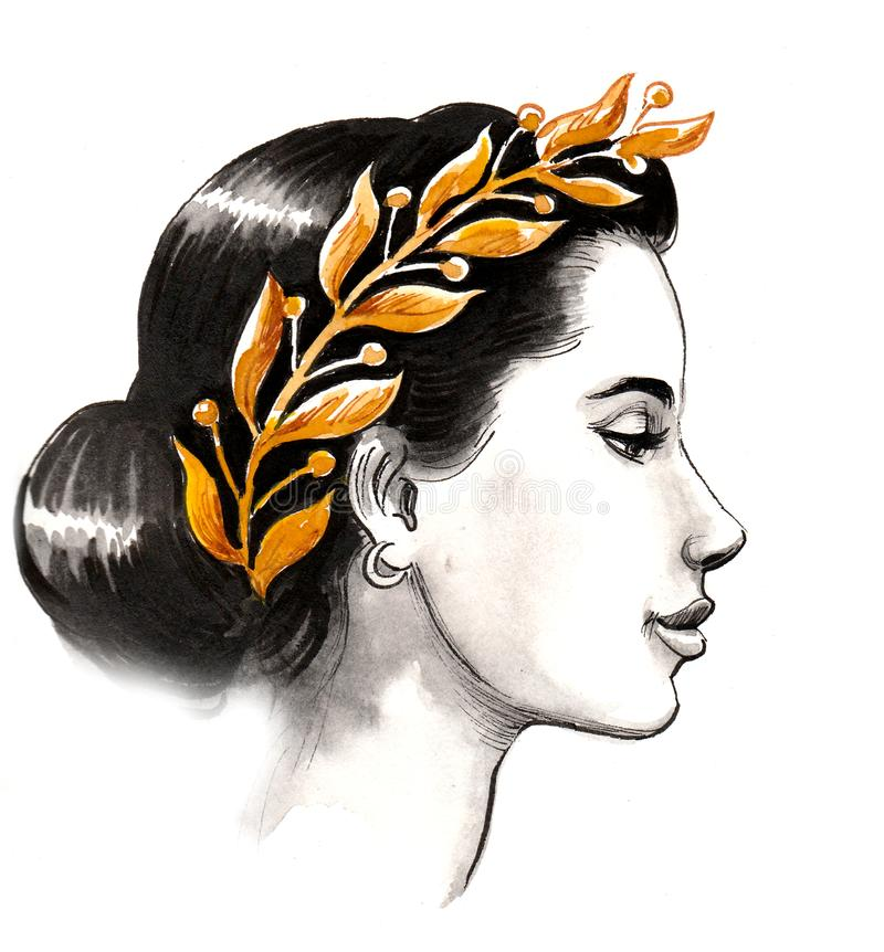 Woman queen stock illustration