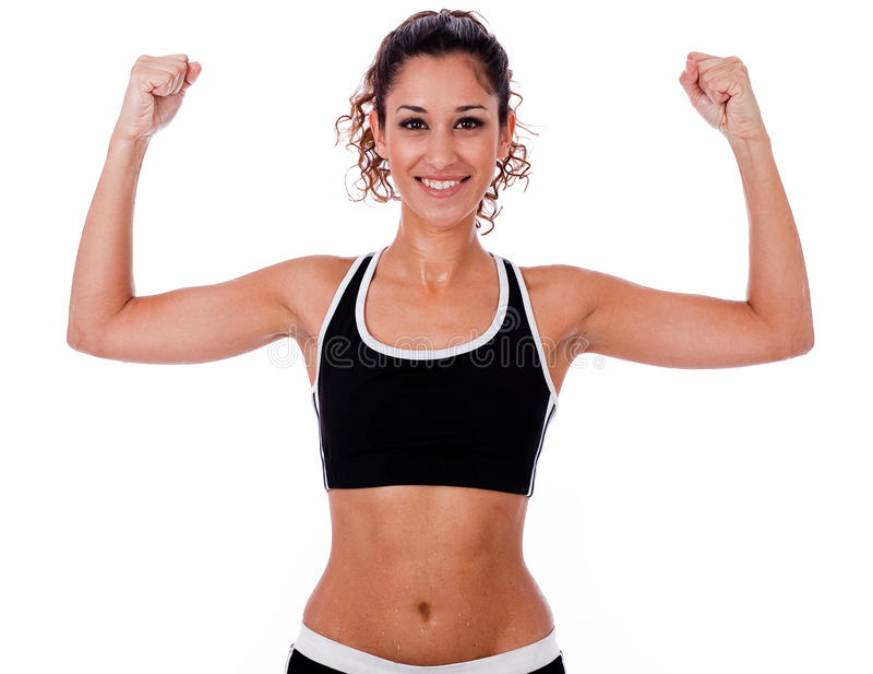 Download Woman Raising Her Hands Doing Exercises Stock Image - Image: 11846221
