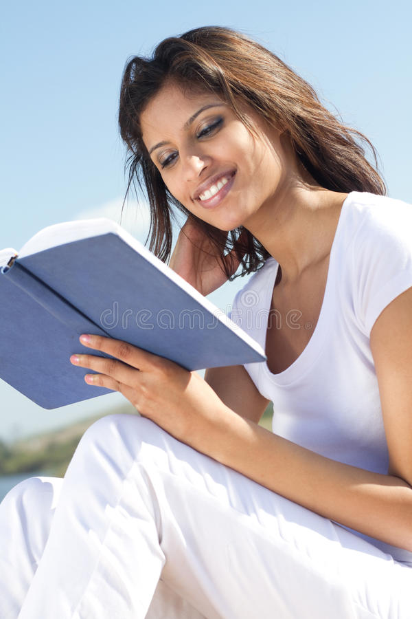 Download Woman reading stock image. Image of indian, attractive - 14331777