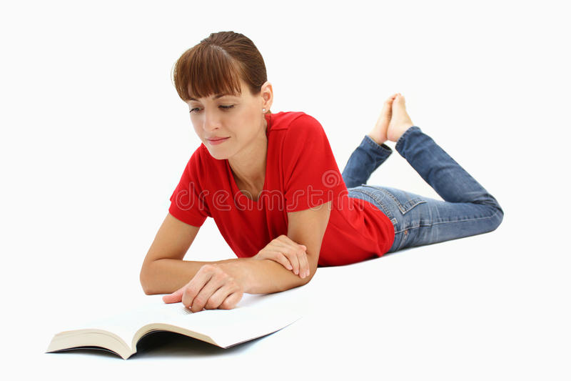 A woman reading royalty free stock images