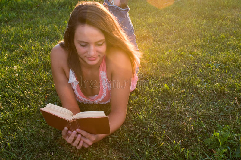 Download Woman reading stock image. Image of beauty, outdoors - 20659745