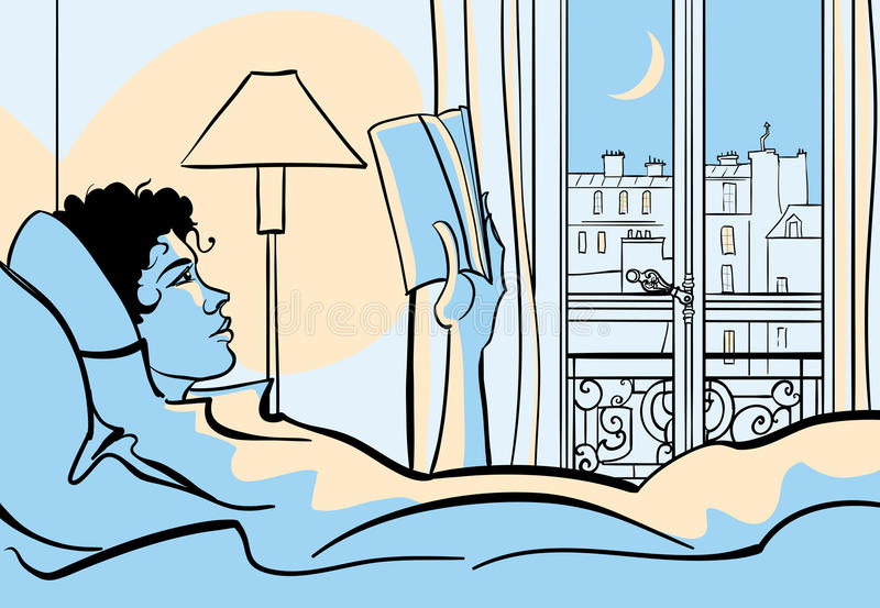 Download Woman reading in bed stock vector. Image of paris, face - 31823798