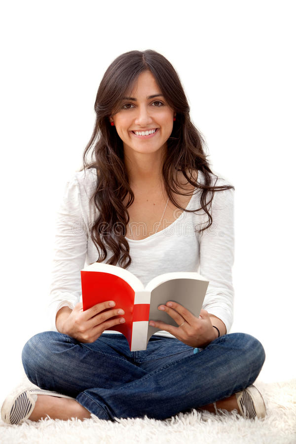 Download Woman reading a book stock photo. Image of book, content - 11669786