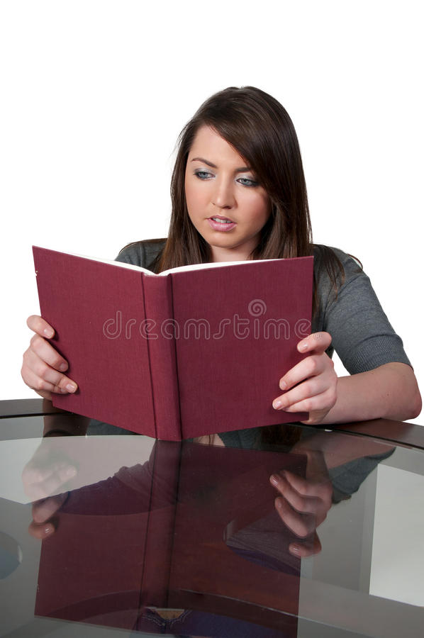 Download Woman Reading a Book stock image. Image of adult, leisure - 17360049