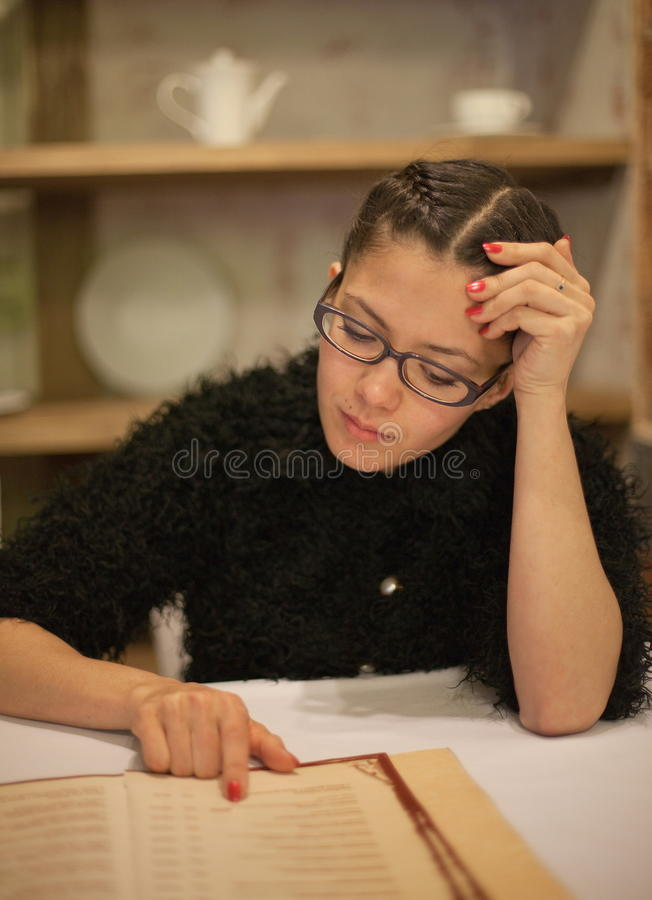 Download Woman reading book stock image. Image of researching - 19501111