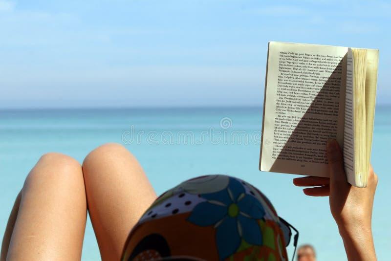 Download Woman reading book stock image. Image of sunglasses, ocean - 7102929