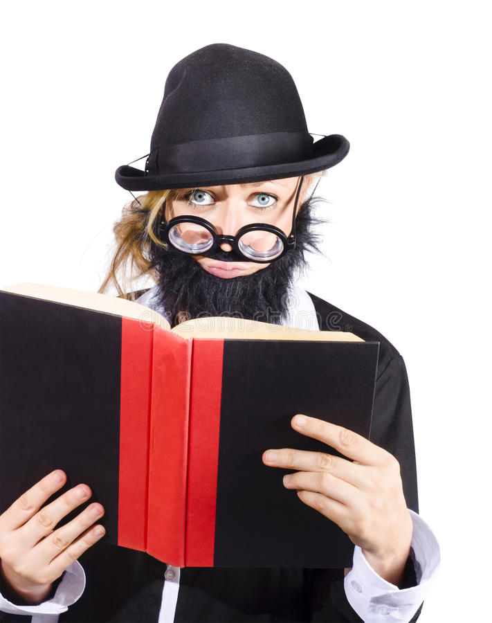 Download Woman reading book stock image. Image of comical, woman - 30377349