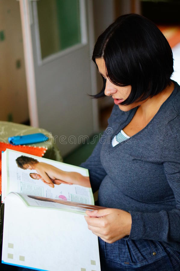 Woman Reading Book Editorial Photography