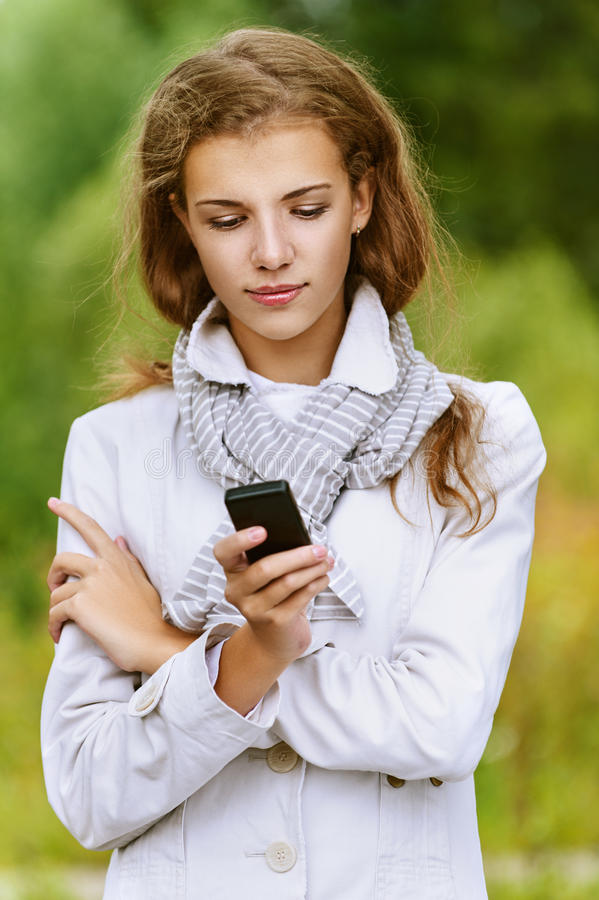 Download Woman Reading Message On Your Stock Photo - Image: 27061294