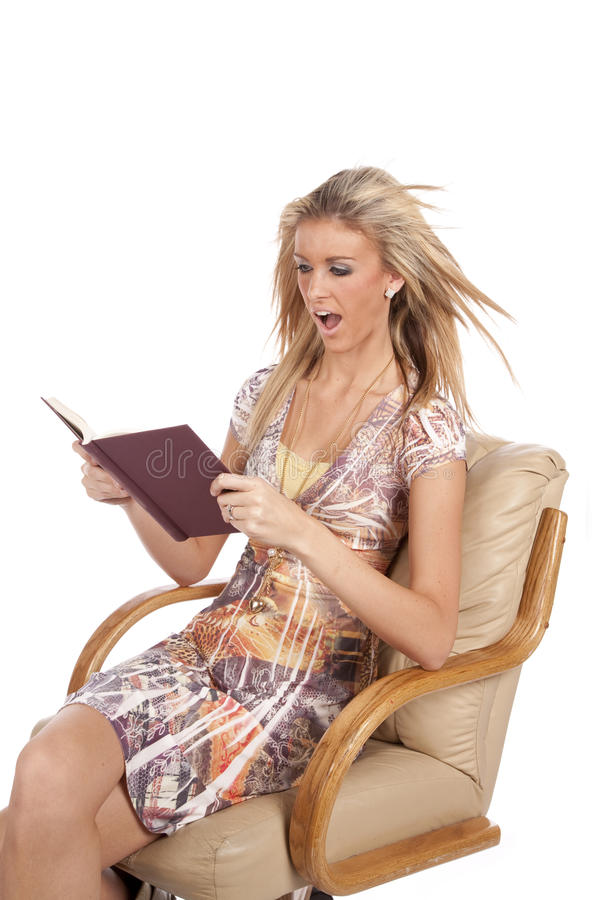 Download Woman reading very excited stock image. Image of adult - 17880883