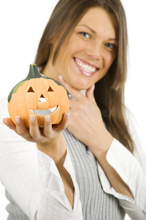 Woman ready for Halloween stock images