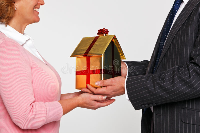 Download A Woman Receiving A New Home Stock Photo - Image of construction, house: 28272144