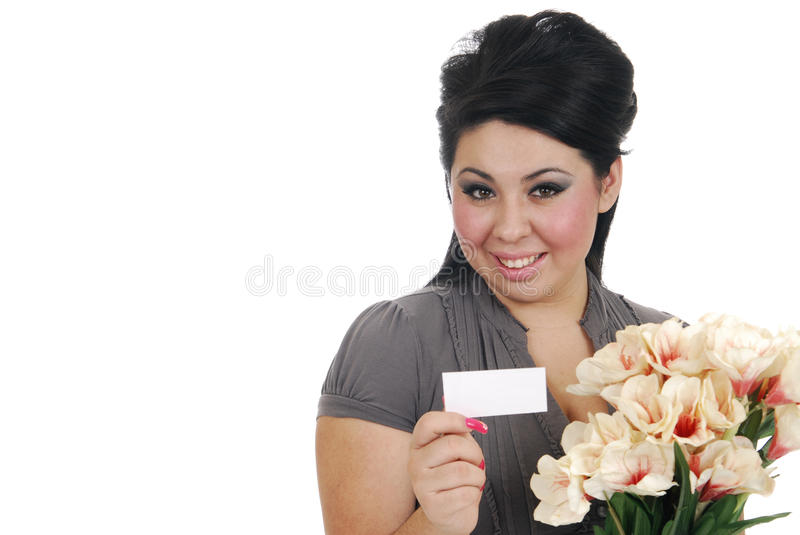 Download Woman recieving flowers stock image. Image of romantic - 17372705