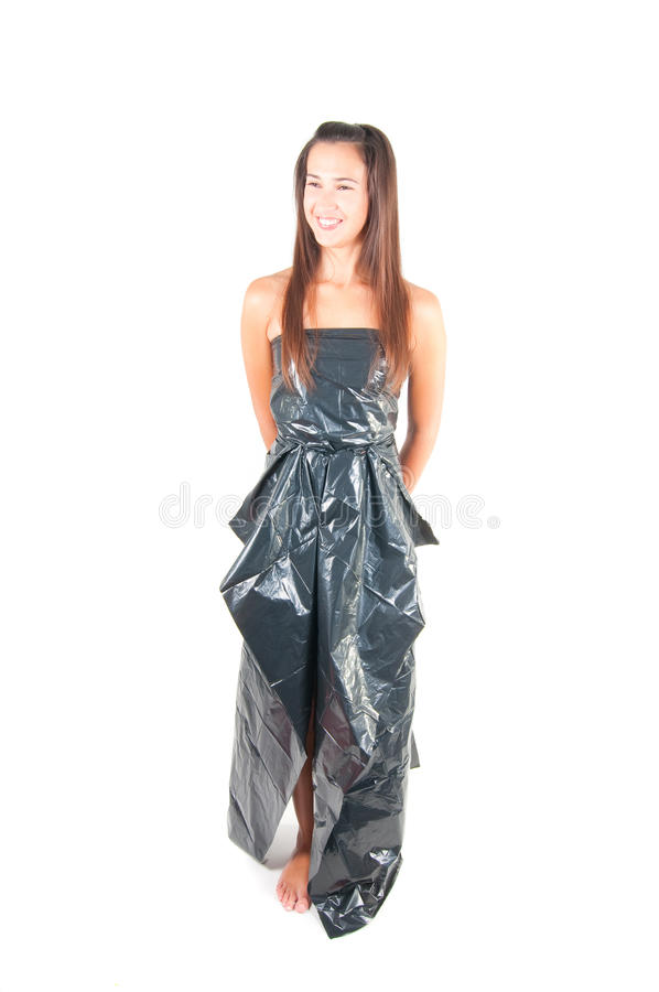 Download Woman in recycling dress stock photo. Image of model - 18063762