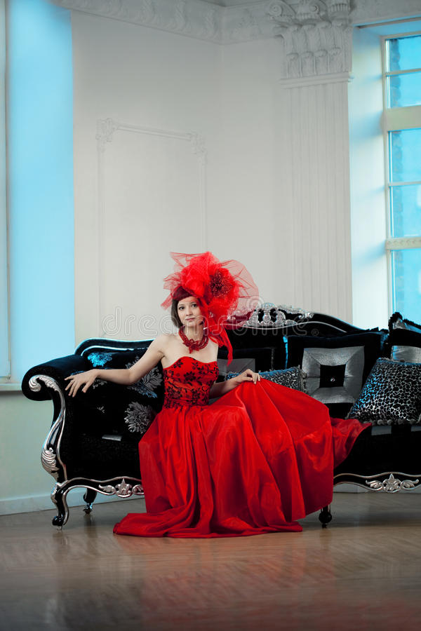 Download Woman In Red Stock Photo - Image: 24592160