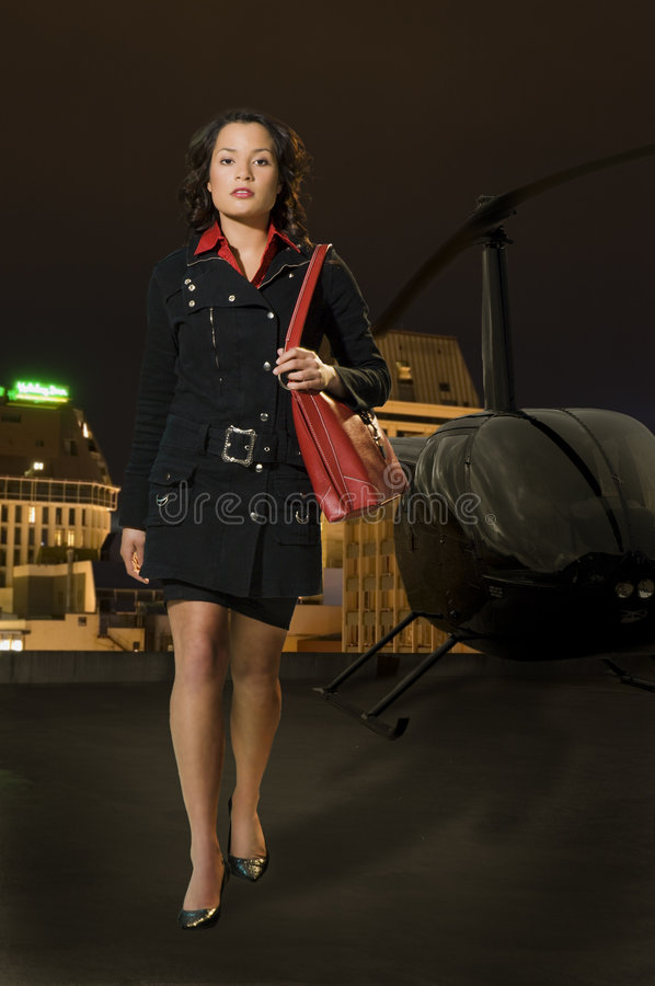 Download Woman with Red Bag stock photo. Image of handbag, coat - 8714916