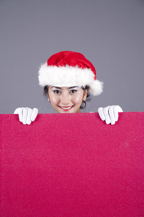Download Woman With A Red Blank Sign Stock Image - Image: 21630831