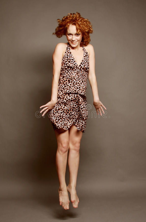 Download Woman with red curly hair stock photo. Image of clear - 26068244