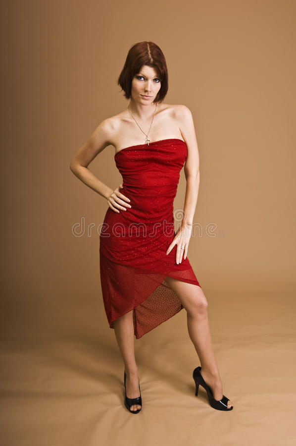 Download Woman In Red Dress Stock Photo - Image: 12274460