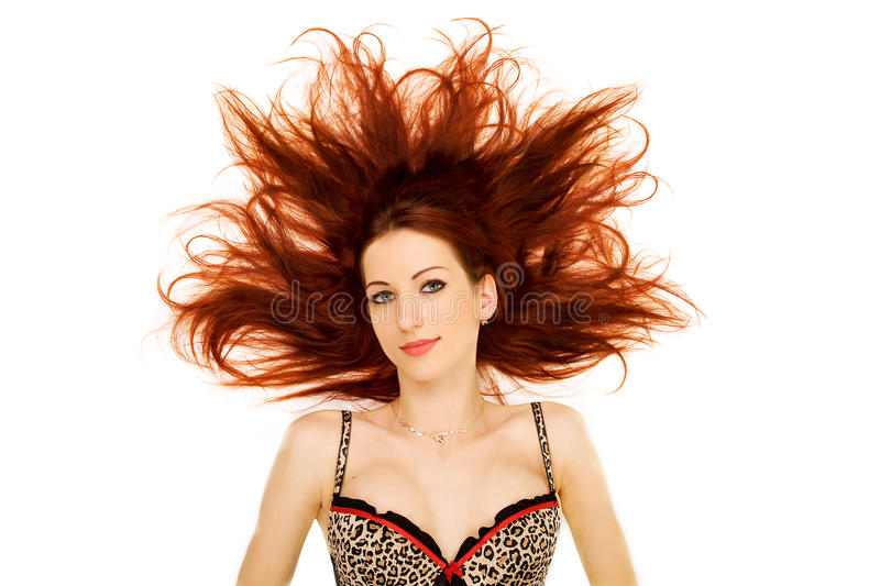 Download Woman With Red Hair Splayed Stock Photo - Image: 12107920