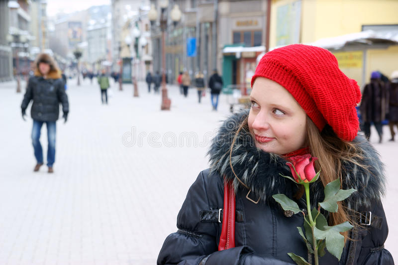 Download Woman with red rose stock image. Image of beauty, beautiful - 18571087