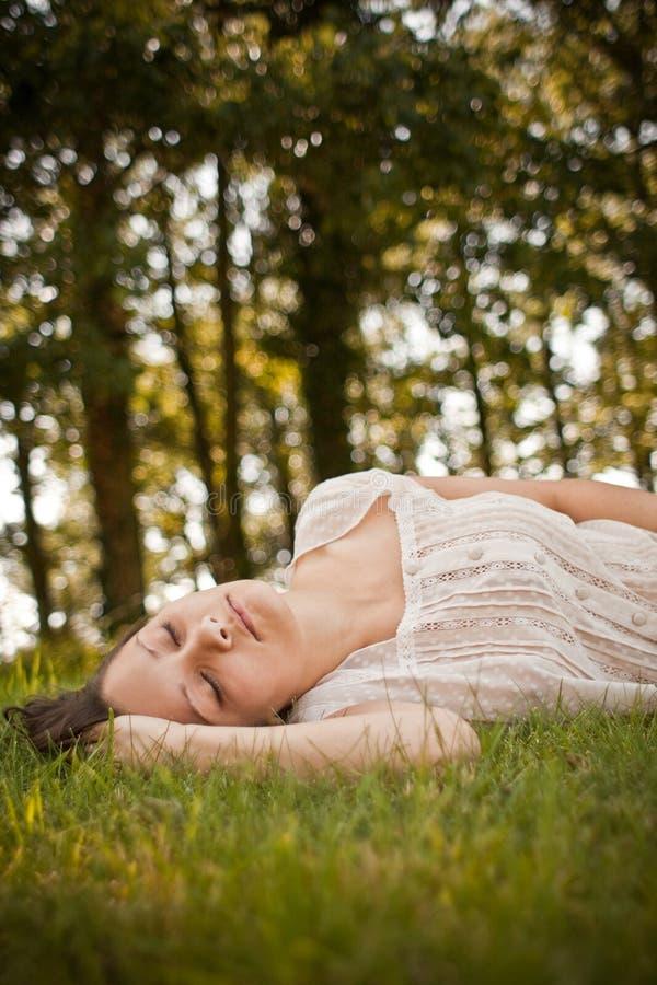 Download Woman relaxing stock image. Image of beautiful, cute - 13128497