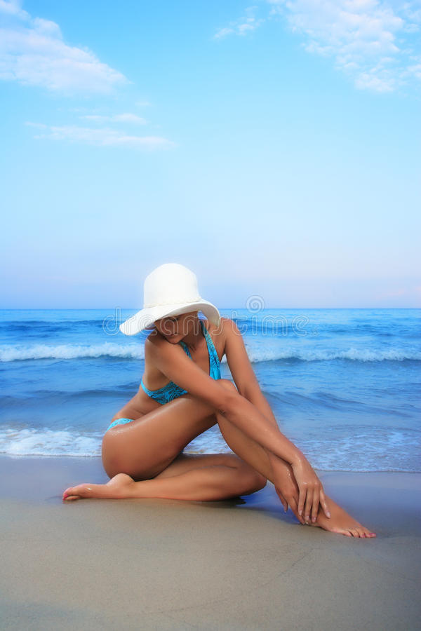 Woman relaxing in the afternoon stock photos