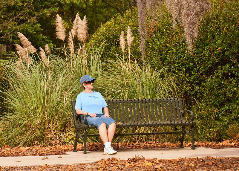 Download Woman Relaxing ON Bench Stock Image - Image: 23827631