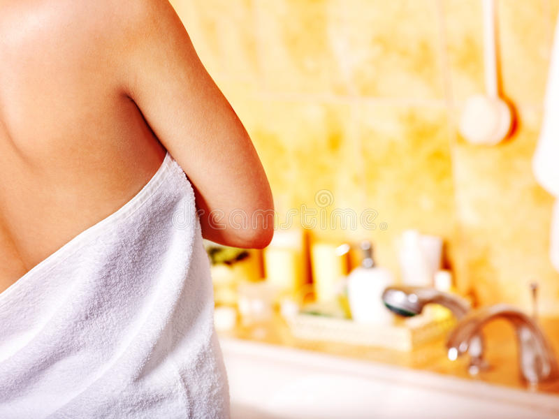 Woman Relaxing At  Bubble Bath. Royalty Free Stock Photo