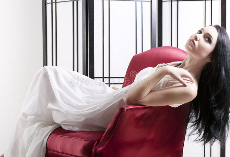 Download Woman relaxing in chair stock photo. Image of musing - 23139374