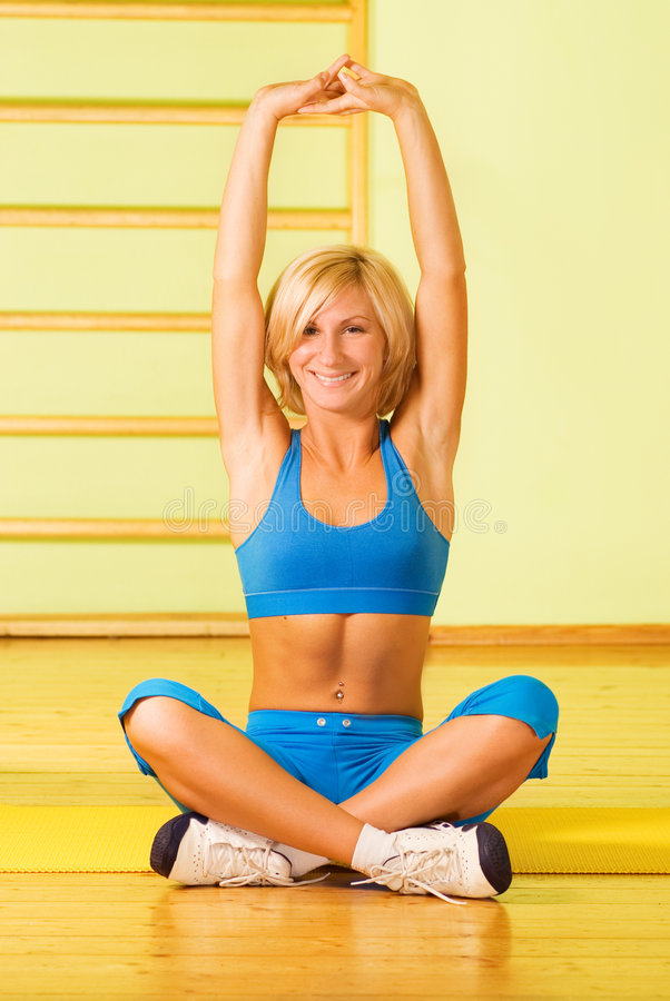 Download Woman Relaxing After Fitness Stock Photo - Image of gymnastics, physical: 4120832