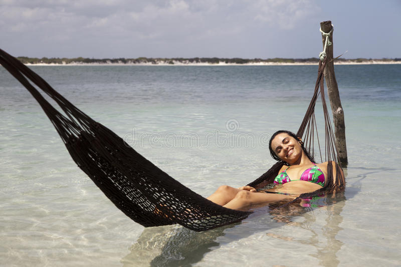 Woman Relaxing On Holidays Royalty Free Stock Photos