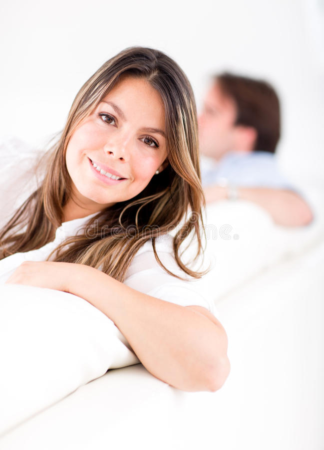 Download Woman relaxing at home stock image. Image of lifestyle - 26657223