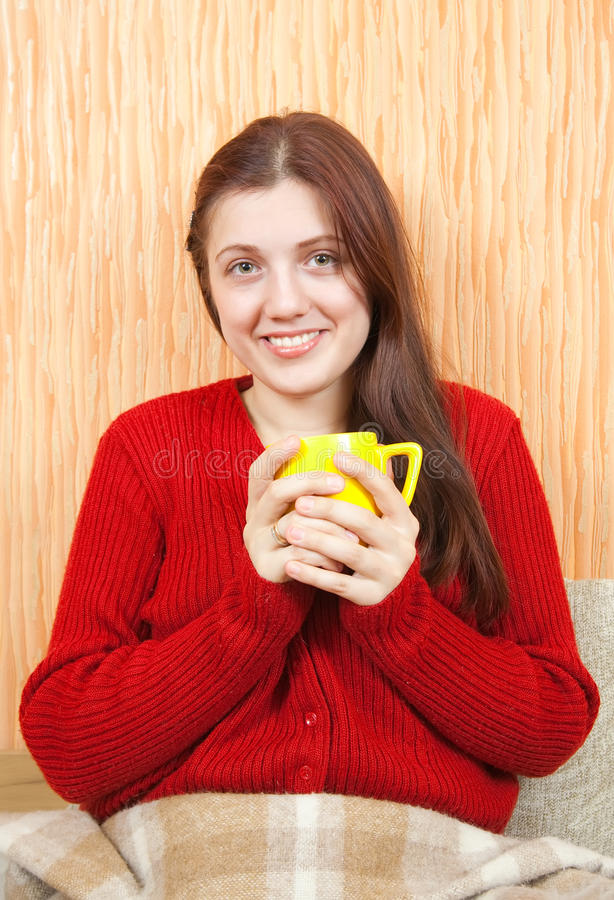 Download Woman Relaxing At Home With A Cup Stock Photo - Image: 15586492