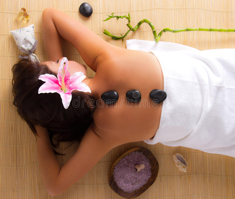 Download Woman relaxing in spa stock photo. Image of makeup, luxury - 29023984