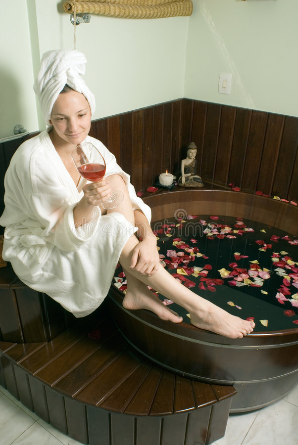 Download Woman Relaxing At A Spa - Vertical Stock Image - Image of renewal, calm: 5510449