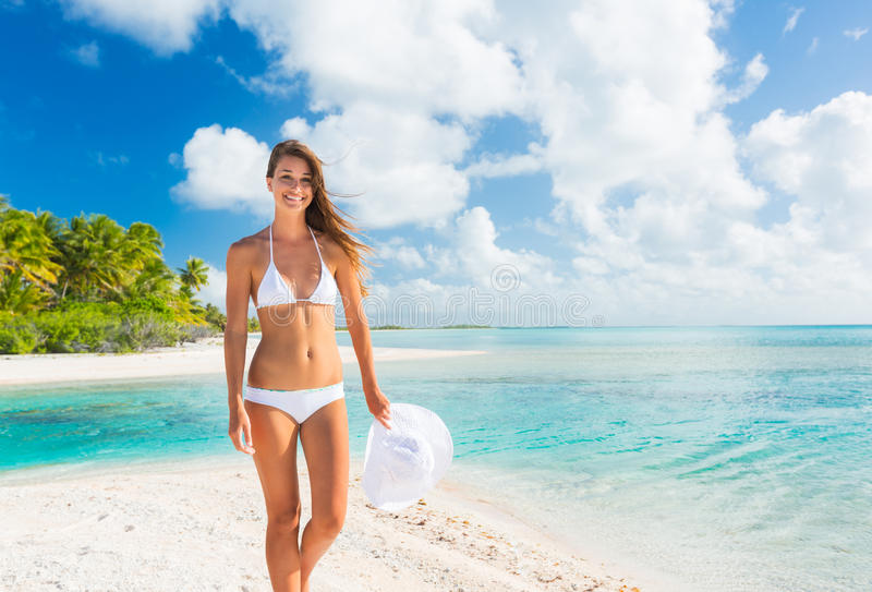 Woman Relaxing Tropical Island royalty free stock photos
