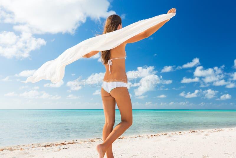 Woman Relaxing Tropical Island stock photo